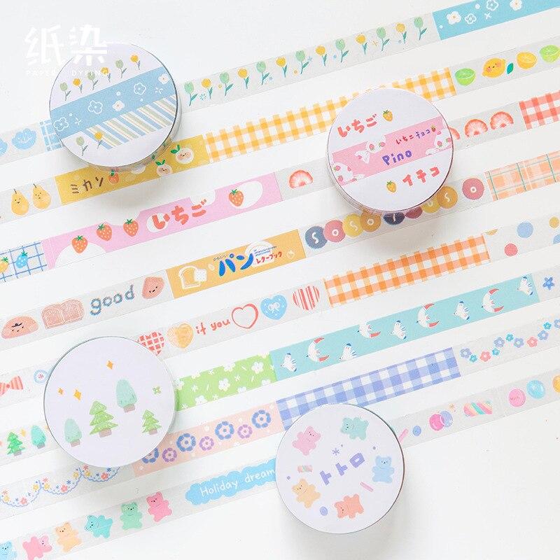 SIXONE Garden Party Fresh Fruit Bear Love Flower Washi Tape Korea Kawaii Hand Account Diary Decorative Sticker Stationery