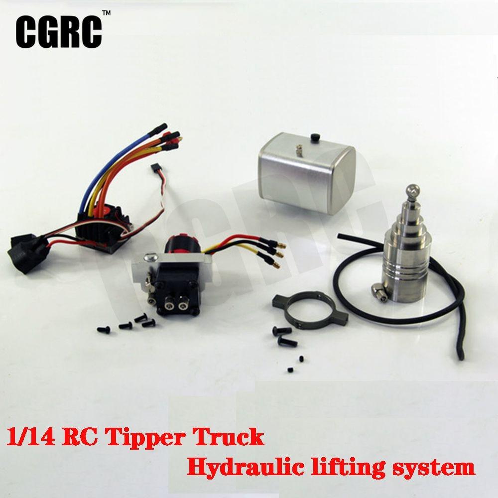 Rc Modello di Sistema di Sollevamento Idraulico per 1/14 Tamiya Rc Ribaltabile Autocarro con Cassone Ribaltabile Arocs 3348 56361 Scania Hino Lesu Fai da Te