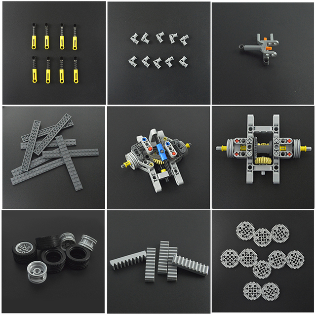 Parts Power Functions Linear Actuator Rod Blocks Telescopic Push Rod MOC Technology Multiple sizes Bricks 5