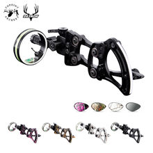 Topoint Archery TP9510 Professional Archery 1 Pin Bow Sight Micro-adjust Hunting Compound Bow Sights Black Color for hunting