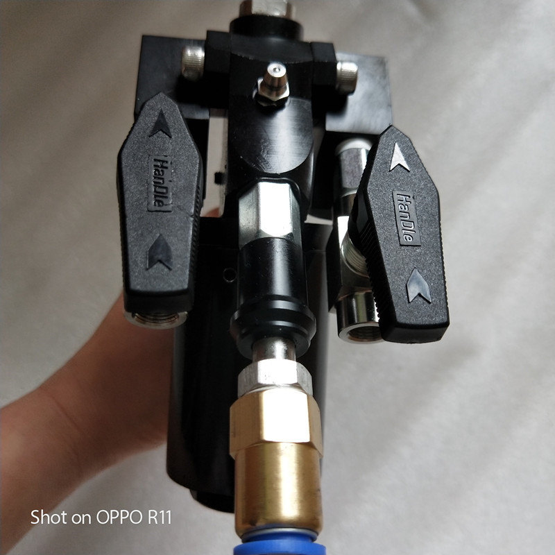 P2 Polyurethane PU Foam Insulation Spray Gun With 2 Nozzle And 3 Orings