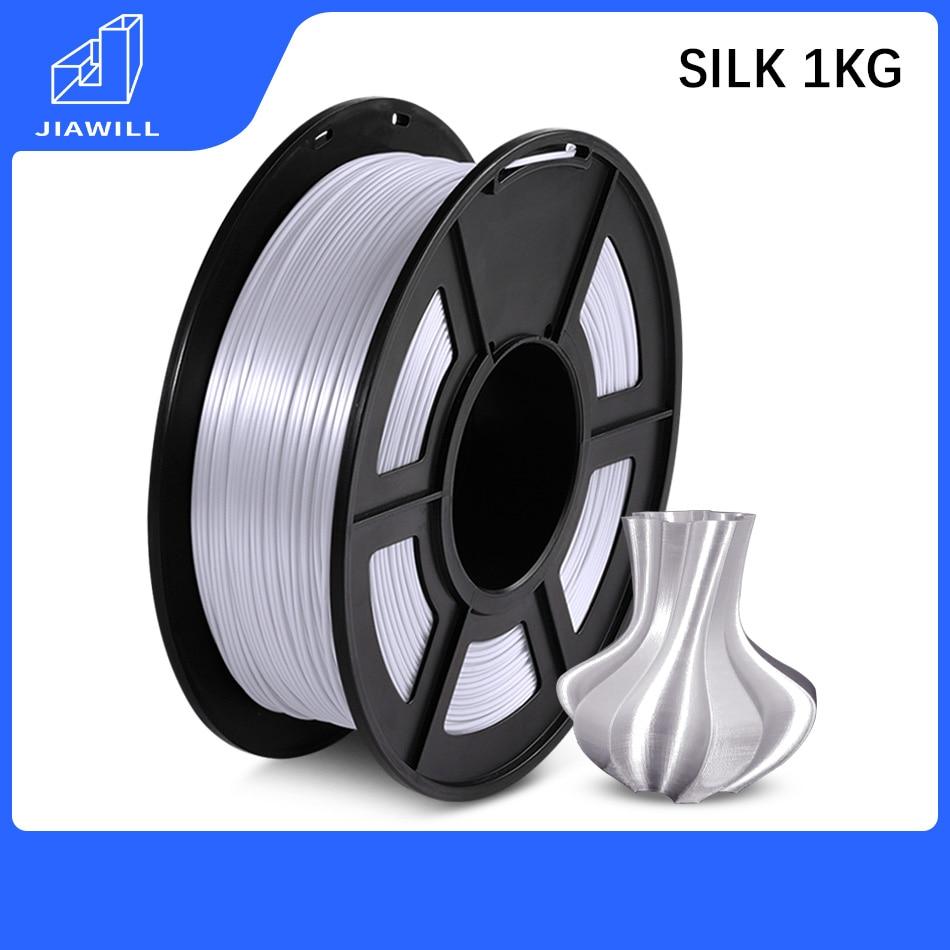 PLA SEIDE Filament Kunststoff PLA 1kg 1,75mm 3D Drucker Filament Höhere Zähigkeit Glatte Druck Seide Wirkung Für Kunst design