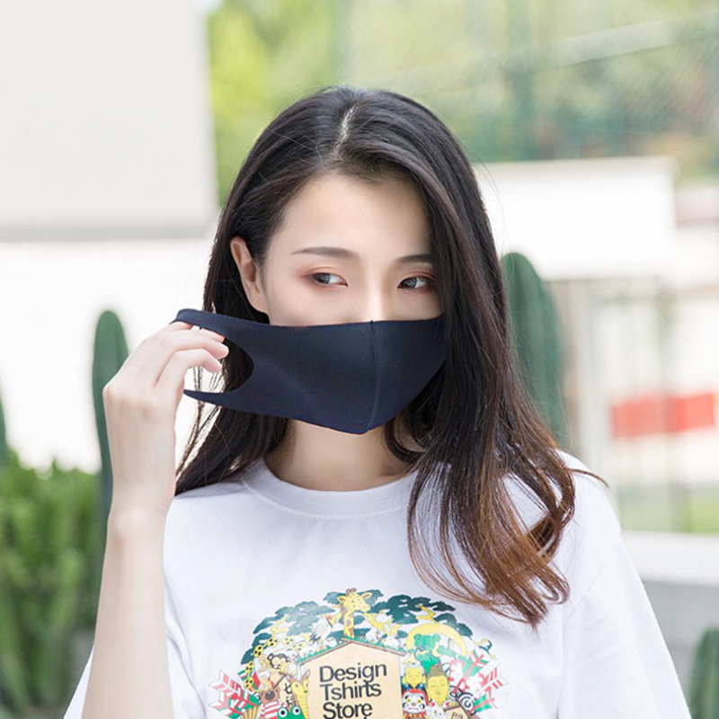 1PC Unisex Black Sponge Mouth Mask Breathable Face Mask New Women Men Reusable Anti Pollution Face Shield Windproof Mouth Covers