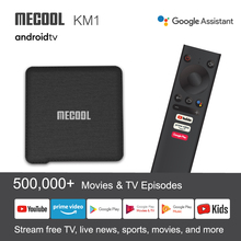 صندوق تلفاز ميكول KM1 Andriod10 4G 64GAmlogic S905X3 ATV Box Tv مزدوج واي فاي 4K صوت جوجل معتمد Andriod صندوق تلفاز يوتيوب صندوق ذكي