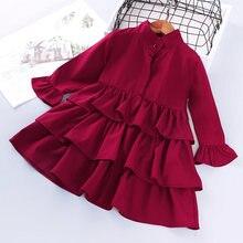 Платье для девочек красное нарядное платье маленьких детская