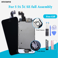 AAAAA LCD Screen for iPhone SE 5s 5 Replacemet Touch Digitizer Full with original Assembly Display + Home Button + Front Camera