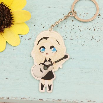 Taylor Swift Related Taylor Swift Stay Meng Cartoon Acrylic Pendant Key Cap 024