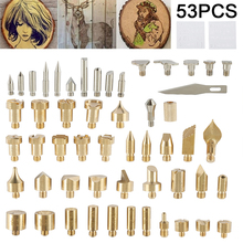55pcs Soldering Iron Set Carving Pyrography Tool Wood Burning Kit Embossing Burning Soldering Set Welding Tips Kit 1 set pyrography wood working and soldering tips alphabet numbers symbols stencils tool parts accesspries supplies
