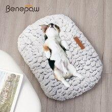 Benepaw cama cálida para perros, cojín antideslizante de felpa gruesa suave y cómoda para mascotas pequeñas, medianas y grandes