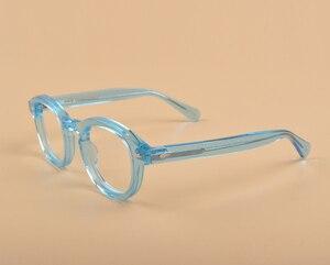 Image 3 - جوني ديب نظارات الرجال النظارات البصرية الإطار النساء العلامة التجارية تصميم خلات خمر الكمبيوتر النظارات جودة عالية Z088