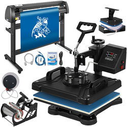 12 x 15 5 in 1 Heat Press LED Controller / 53 Vinyl Cutting Plotter With High Cut working capacity