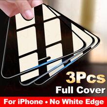 3 pièces couvercle complet verre de protection sur pour iPhone 11 Pro Max Film de verre trempé sur iPhone X XR XS Max protecteur décran bord incurvé
