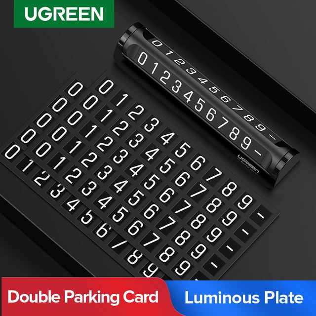 Ugreen  Car Temporary Parking Card Phone Holder Luminous Phone Number Plate Auto Stickers Drawer Style Car Styling Rocker Switch