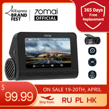 70mai Dash Cam 4K A800 Dual Sight 70mai A800S Built-in GPS ADAS Real 4K 70mai Front and Rear Car DVR 2160P 24H Parking 140FOV