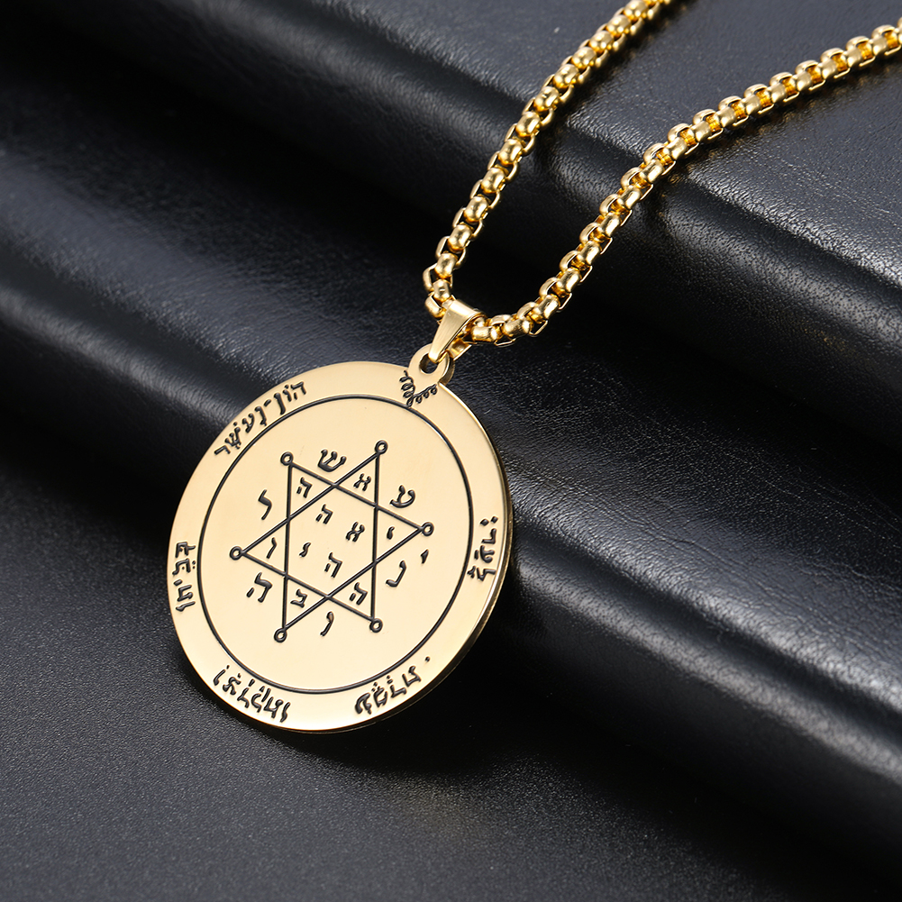 cooltime Jewish Amulet King of Solomon David Star Pendant Necklaces Mens Women Jewelry
