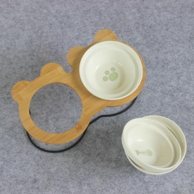 Bamboo Shelf Ceramic Bowls 3