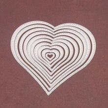 Heart Basic Frame Metal Cutting Dies for DIY Scrapbooking Crafts Cut Stencils Maker Photo Album Template Handmade Decor