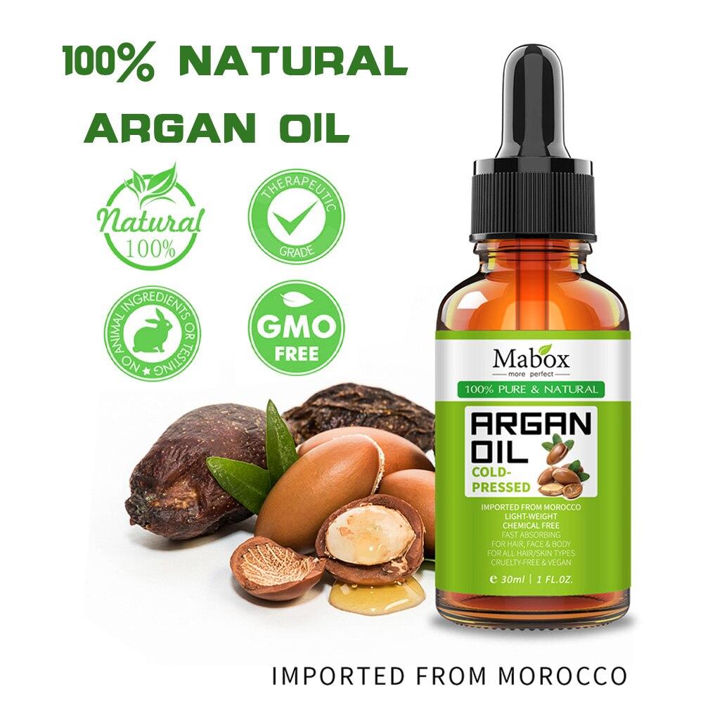 30ml natural puro óleo de argan prensado a frio eficaz para o cuidado do cabelo evitar a perda de cabelo e os cuidados com a pele reduzem cravos & círculos dos olhos