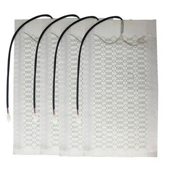 2 Asientos 4 Almohadillas Calentador De Asiento De Fibra De Carbono Para Coche 5 Elementos Calefactores De Nivel Cojín De Asiento Conjunto De Asiento Calefactor