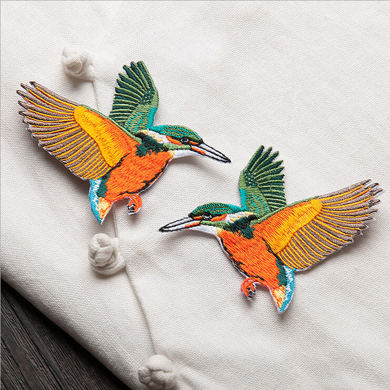 1pc Bird Butterfly Patches For Clothing Iron On Motif Sticker Sewing Patches Melt Adhesive Applique Hats Jeans Accessories