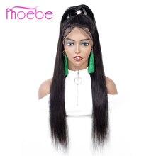 Phoebe 13x4 кружевные фронтальные человеческие волосы парики бразильские прямые волосы фронтальный парик с детскими волосами для черных женщин не Реми