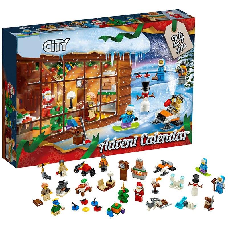 2019 New Girl Friends Advent Calendar Star Wars City Building Block Bricks Legoinglys Christmas Gift With 75213 41353 With Box