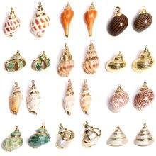 3 unids/lote Natural mar Shell Concha colgante de encantos para manualidades DIY adornos de joyería venta al por mayor de accesorios de perlas