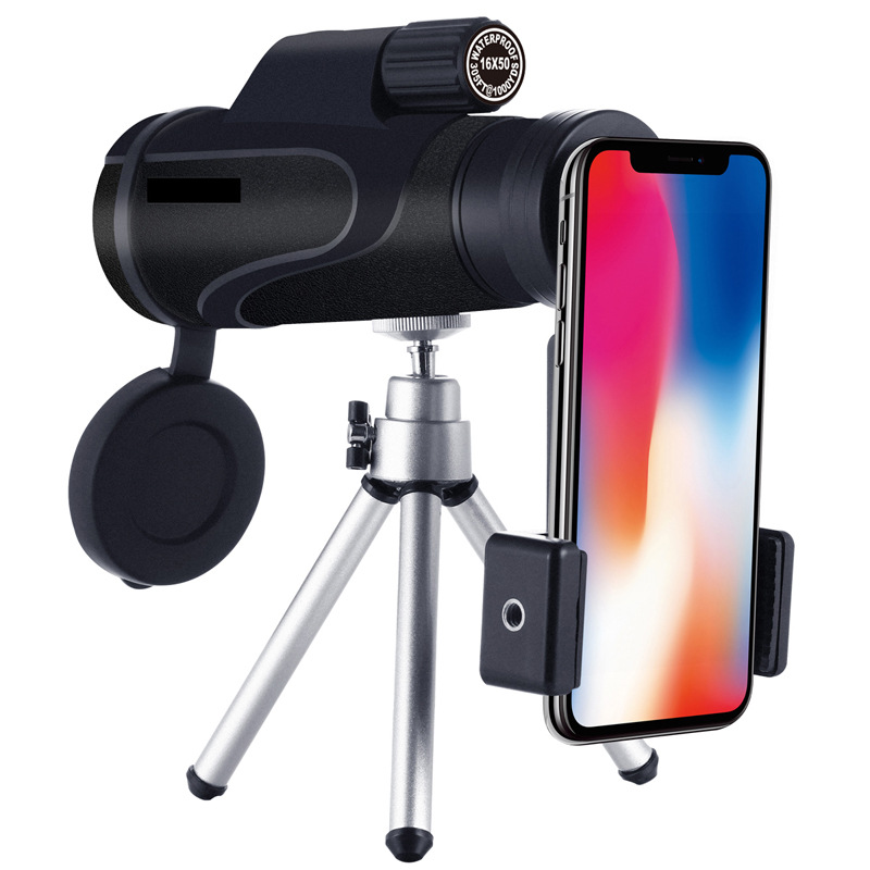 Portable Long Range Telescope <font><b>16x50</b></font> Night Vision Monocular Telescope Hd <font><b>Binoculars</b></font> Zoom Camping Waterproof Camera image