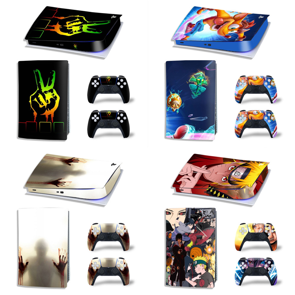 Vinyl Decal For PS5 Digital edition Skin Stickers Wrap for Sony PlayStation 5 digital edition Console with 2 Controllers Skins 1
