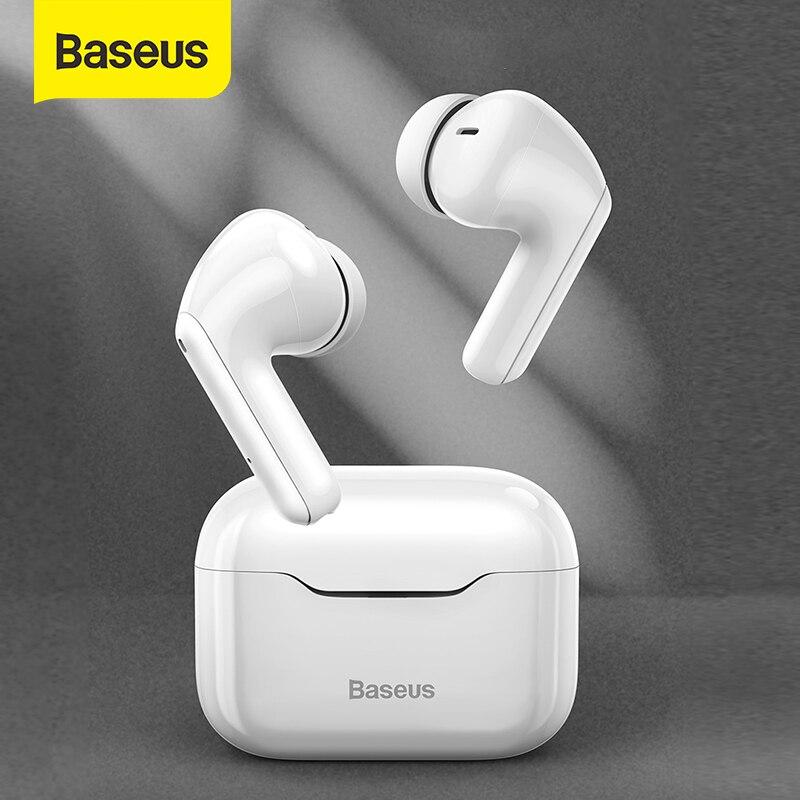 Baseus TWS ANC bezprzewodowa słuchawka Bluetooth 5.1 aktywna redukcja szumów słuchawki Hi-Fi Audio sterowanie dotykowe słuchawki douszne do gier