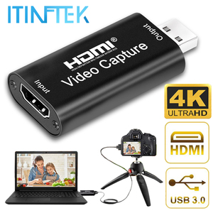 4K Video Capture Card USB 3.0 2.0 HDMI HD 1080p Video Grabber Record Box for PS4 DVD Camcorder Camera Recording Streaming Live