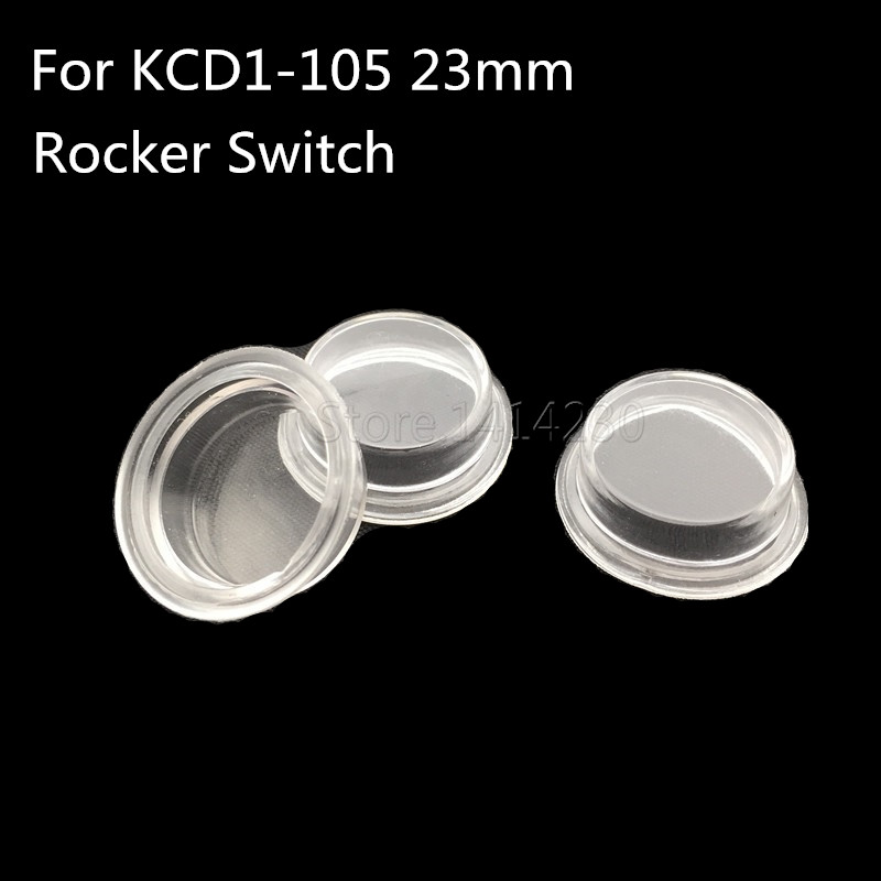 10Pcs KCD1-105 Big Round Transparent Waterproof Cap Waterproof Cover Is Suitable For The Diameter 23mm Rocker Switch