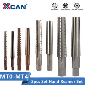 XCAN Hand-Reamers Cutter-Tool Milling 2pcs for Finishing Morse Mt3/mt4-Steel Fine/rough-Edge