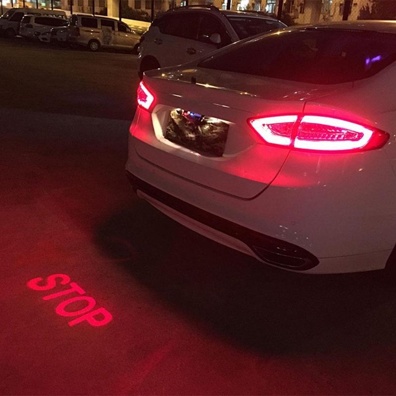 Анти-столкновения заднего конца Автомобиля Лазерный Хвост противотуманных фар авто тормозные парковочные стоп-лампы сигнальные фонарики ...