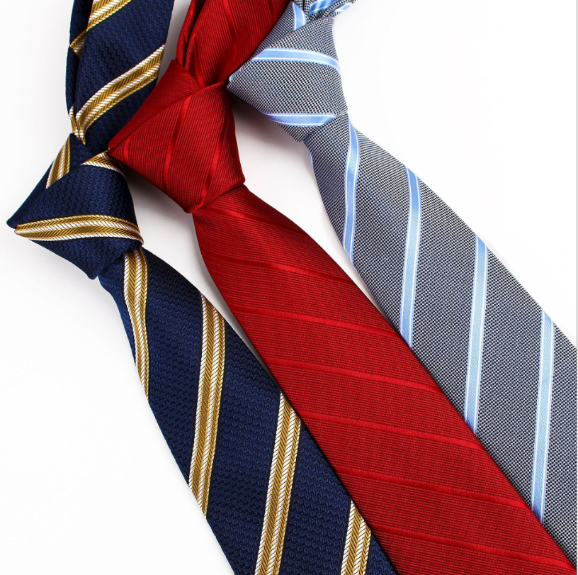 2020 Newest Business Striped Men Ties 7cm Work Leisure Party Cravate Homme  Bridegroom's Wedding Tie