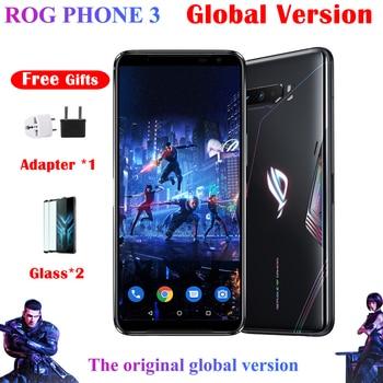 Перейти на Алиэкспресс и купить Оригинальная глобальная версия ASUS ROG Phone 3 ZS661KS 5G Смартфон Snapdragon 865/865Plus NFC Android Q OTA обновленный игровой телефон ROG3