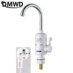 DMWD 3000 Вт мгновенный Электрический смеситель для душа Ванная комната Кухня без резервуара Мгновенный нагрев горячей и холодной воды водонаг...