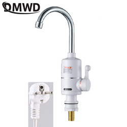 Dmwd 3000 w torneira do chuveiro elétrico instantâneo banheiro cozinha tankless aquecimento instantâneo aquecedor de água quente e fria da ue eua plug