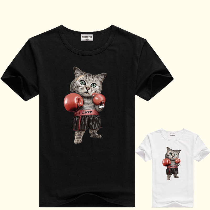 DMDM PIG 2019 New Baby Girls Clothing Cotton Cartoon Cat Short Sleeve T Shirt For Boys Children's Clothing Casual Tops Tee Shirt