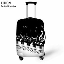 THIKIN Fashion Piano Music Notes Print Travel Accessories Cases for Women Suitcases Protective Covers S-XL Dust Luggage Cover(China)