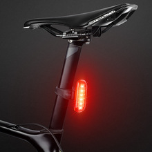 WEST BIKING 6 LED Induction Brake Bike Rear Light 5 Modes Waterproof USB Charging Night Warning Taillight Cycling Bicycle Light tanie tanio Bike Tail Light Sztyca Baterii 500mAh lithium battery 3 hours 10-20 hours IPX6 37 6g