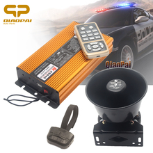 Auto Police Siren Horn Vehicle Warning Siren Speaker 400W Wireless Megaphone Sound Warning Tone 12V Truck Alarm Horn MIC System цена