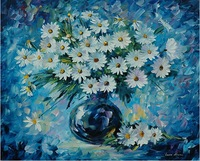 handmade canvas flower oil painting wholesale knife painting Leonid Afremov artist painting reproduction home goods oil painting