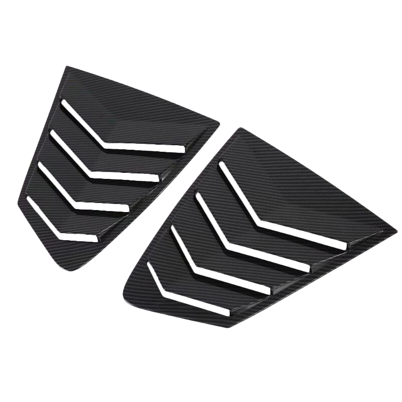For Mazda 3 M3 Mazda3 2019 2020 Carbon Fiber ABS Rear Window Hanlde Triangle Bowl Cover Car Styling Accessories 2PCS|Chromium Styling| |  - title=