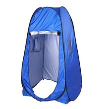 Outdoor Camping Automatic Tents Portable Privacy Shower Toilet Camping Pop Up Tent UV Function Summer Bath Dressing Tent Blue quick opening dressing shower fishing tent one touch waterproof camping toilet changing room with carrying bag