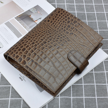 цена на Crocodile pattern Notebook Diary Notepad Vintage Cowhide Leather Note Book Replaceable Business notebook Gift Traveler Journal