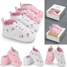 Infant Baby Shoes Girl Flower Soft Sole Crib Toddler Summer