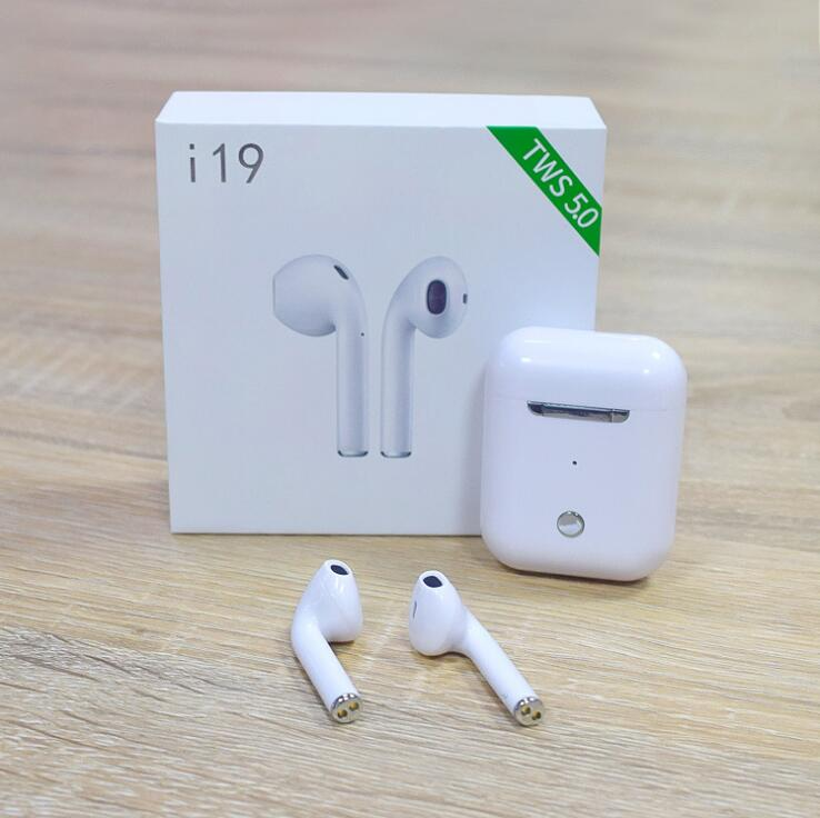 <font><b>i19</b></font> <font><b>TWS</b></font> Wireless Earphone <font><b>Bluetooth</b></font> 5.0 headset 1:1 with Charging Case earbuds For mobile phone with good chip pk i12 i16 i20 image