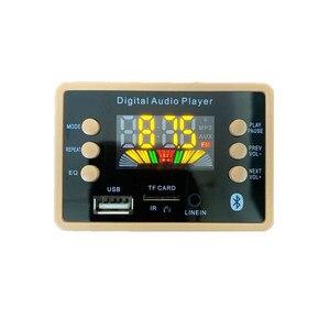 Image 3 - بلوتوث 5.0 MP3 فك فك لوحة تركيبية 5 فولت 12 فولت سيارة USB MP3 مشغل موسيقى WMA WAV TF فتحة للبطاقات USB FM لوحة تركيبية عن بعد