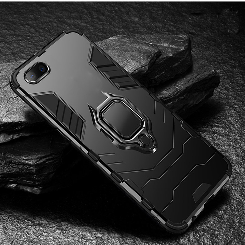OPPO A1K Case Heavy Duty Armor Ring Bracket Kickstand Cover Case For Oppo A1K OPPO A1K A 1K OPPOA1K CPH1923 Fundas Couqe